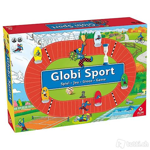 Tolles Globi Sport Spiel, AGM, neu