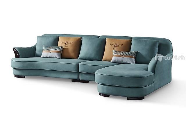 Ecksofa LForm Sofa Couch Design Couchen Polster Textil Leder