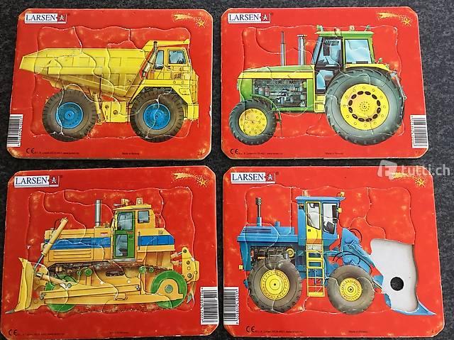 Kraftfahrzeuge 4 Puzzles von Larsen