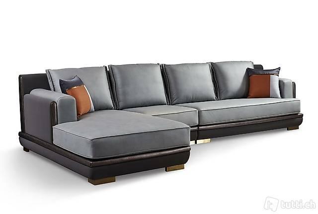 Design Esk Ecksofa L form Modern Sofas Ledersofa Couch Neu