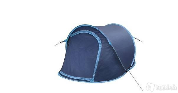 Pop-Up-Zelt geeigent für 2 Personen in Blau