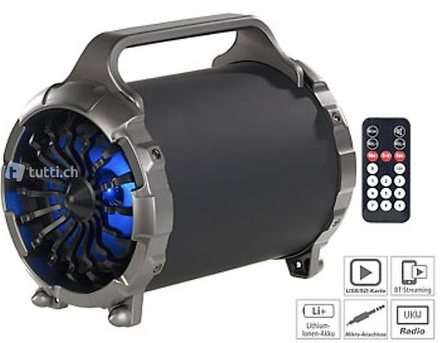 2.1-Akku-Soundblaster, Bluetooth, FM, SD, USB, 50 Watt, 4.00