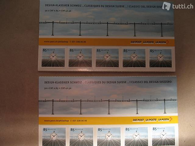 100 85 Rappen Briefmarken