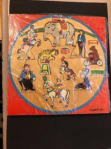 Vintage Holz-Puzzle von Simplex Toys