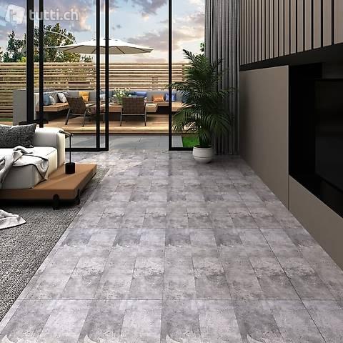NEU PVC-Laminat-Dielen 5,26 m² 2 mm Zementbraun
