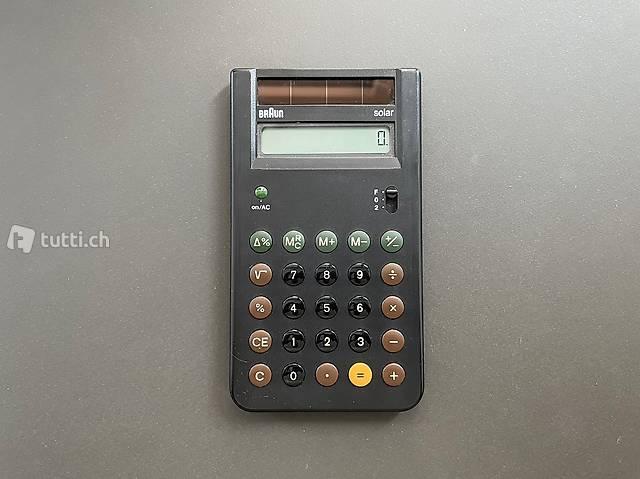 Braun Designklassiker Taschenrechner