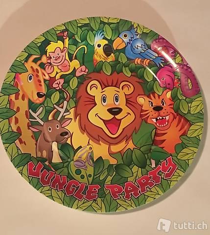 Kinderparty Teller Dschungel Motiv
