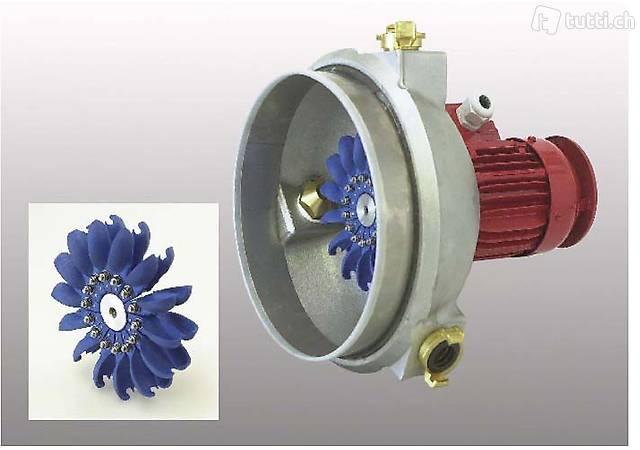 Wasserturbine mit Generator 1000W 3x24V