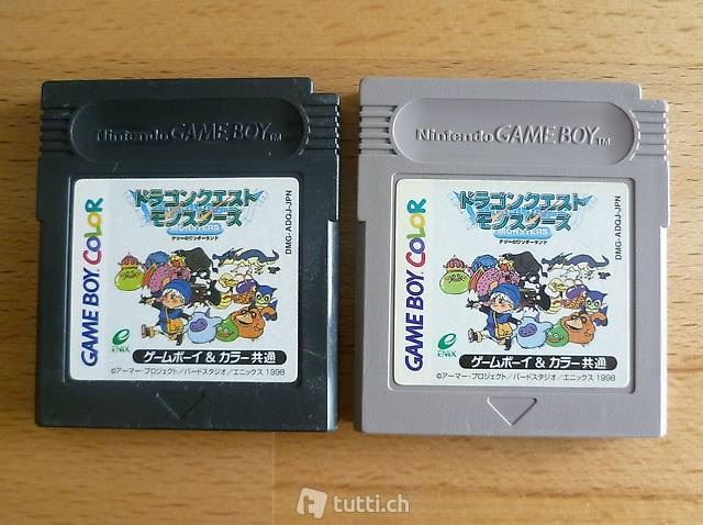 2 x Dragon Quest Monsters (grey + black9 (JAP)