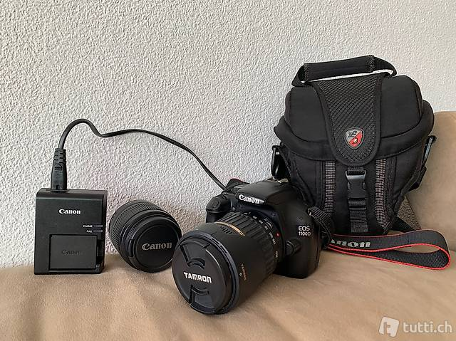 Canon Spiegelreflexkamera mit Tasche