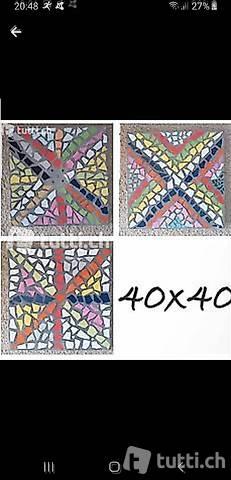 Mosaik Garten Platten NEU 40x40,50x50