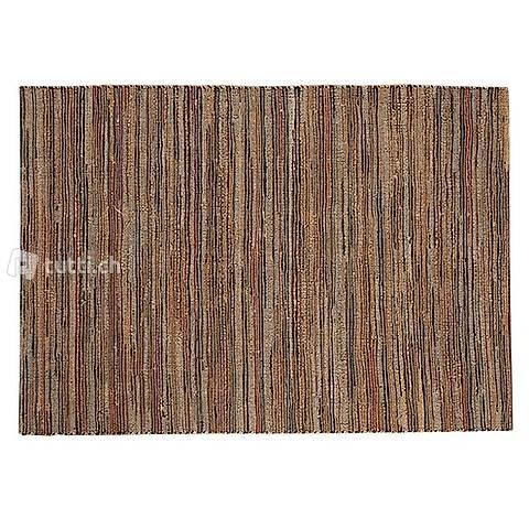 FuhrHome Teppich PARIS Leder/Jute 160/230 cm