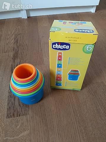Chicco Gioco Tazze Impilabili, Forme Incastri, 9-36M