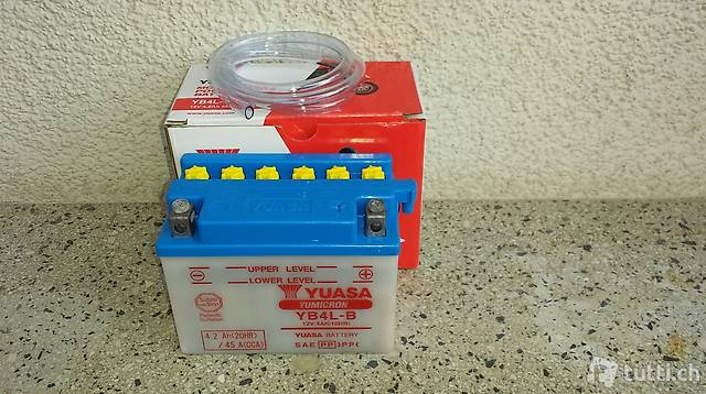 Neue Motorradbatterie Yuasa, für die meisten 50ccm Roller