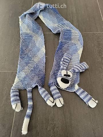 Schal handgestrickt