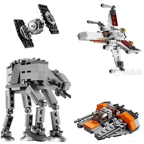 Lego Star Wars - Wenig Platz? 4 Mini-Modelle, z. B. Hoth